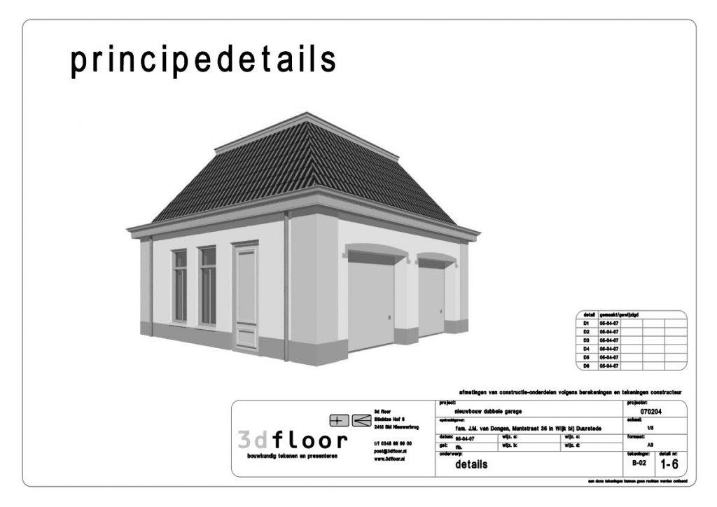 voorbeeld bouwtekening maken omgevingsvergunning