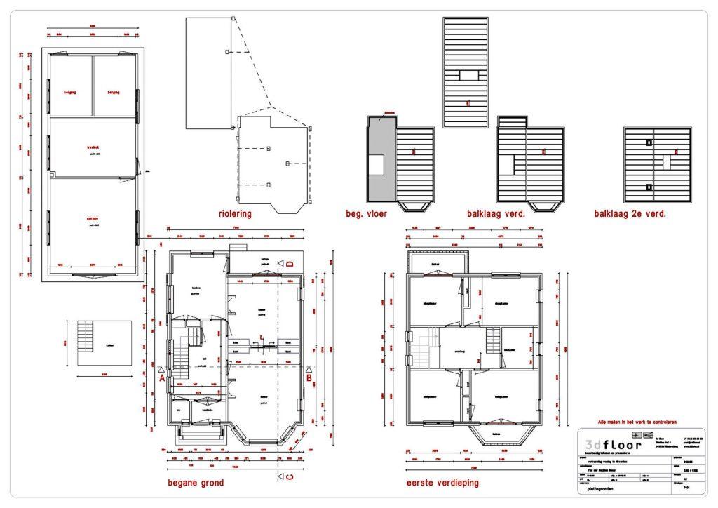 digitalisering tekeningen oude bouw tekening huis woerden nieuw